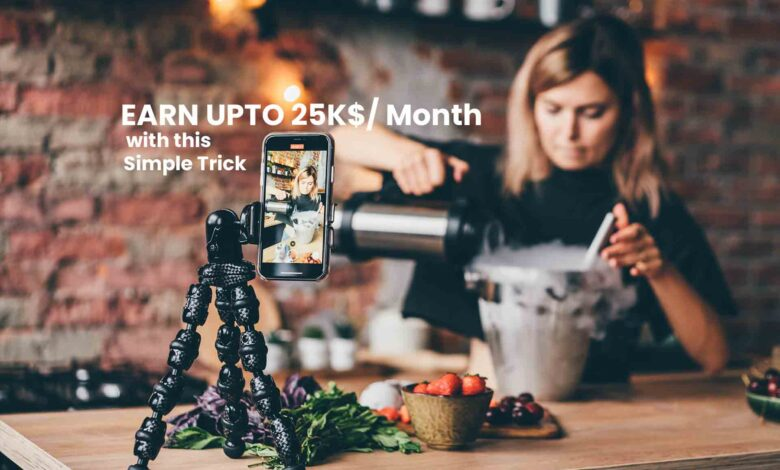Earn upto 25k $ Per Month with this simple trick