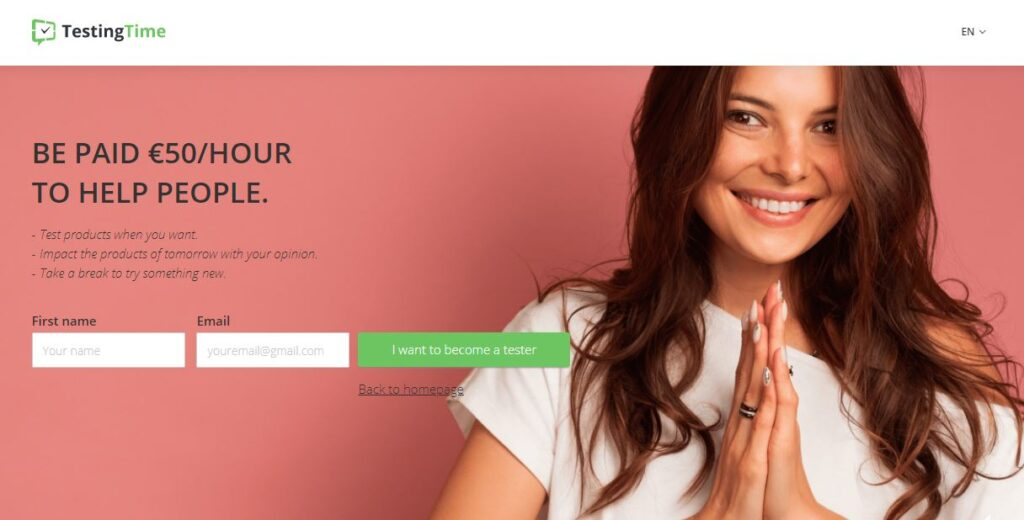 Get Paid upto 50  Euros per hour for testing user experience