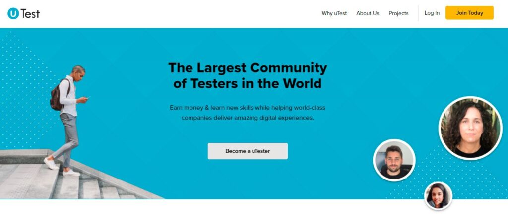 Utest.com -earn while you learn